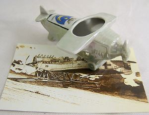Foreign Crested China - Early German Monoplane - Portsmouth Crest - 1930s